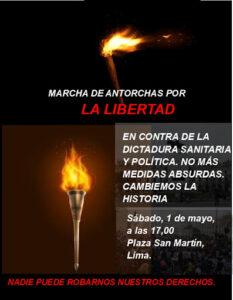 GRAN MARCHA DE ANTORCHAS POR LA LIBERTAD!