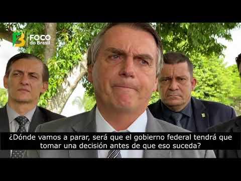Reacción de Bolsonaro ante medidas dictatoriales de Gobernadores y Alcaldes